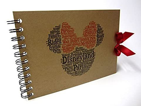 Disney Autograph Book, Mickey or Minnie Mouse, Disney Land or Disneyworld, A5 Size (A5 Minnie (Paris))