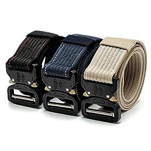 CHOUBAGUAI Taktischer Gürtel Heavy Duty Belt Tactical Gear Nylon Metallschnalle Swat Molle Gepolsterte Patrol Taille Gürtel Tactical Hunting Zubehör