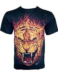Rock Chang T-Shirt * Wild Tiger * Glow In The Dark * Noir GR478