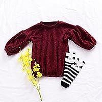 Zantec Camiseta Chica Moda Linterna Manga de algodón Tops de Punto Color Puro Camiseta de Estilo único Blusa