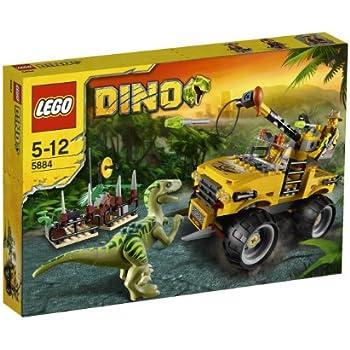 Lego dino 5884 jeu de construction la poursuite du v lociraptor jeux et jouets - Jeux lego dino ...