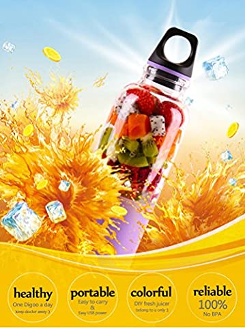 Mixer Flasche,Digoo DG-VX2 Tragbarer Auto/Elektro Mixer Becher Tasse für Säfte