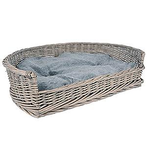 Hochwertiges Hundebett in Grau aus Weide. Dieses moderne Hundekörbchen lässt die Herzen der Vierbeiner höher schlagen. Es eignet sich perfekt als Schlafplatz, Ruheort und Kuschelecke für Ihren Hund. Egal ob nach einem anstrengenden Spaziergang, gemei...