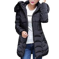 SHOBDW Moda Mujeres de Invierno Chaqueta Larga Abrigo de algod n Caliente Slim Trench Parka Ropa L 4XL