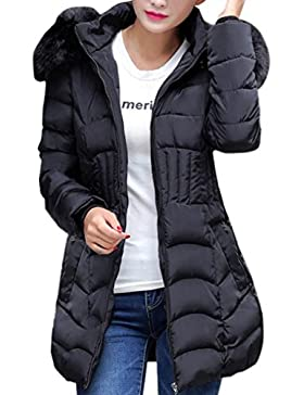 [Patrocinado]SHOBDW Moda mujeres de invierno chaqueta larga abrigo de algodón caliente Slim Trench parka ropa L-4XL