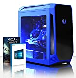 VIBOX Gaming PC - Cetus 81 - 4.5GHz Intel i7 Quad Core CPU, GTX 1080 GPU, VR Ready, Water Cooled, Desktop Computer with Game Bundle, Windows 10 OS, Blue Internal Lighting and Lifetime Warranty* (Super Fast Intel i7 7700K Kabylake 4-Core CPU Processor, Nvidia GeForce GTX 1080 8GB Graphics Card, 32GB Team 2133MHz DDR4 RAM, Super Fast 240GB Solid State Drive SSD, 3TB (3000GB) Sata III 7200rpm Hard Drive HDD, Raijintek Triton Liquid Cooler, 600W 85+ PSU, Bitfenix Aegis Case, B250 Motherboard)