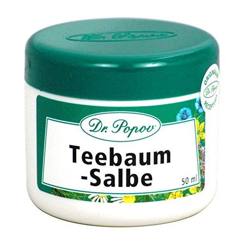 Teebaumöl-salbe (Teebaumöl Salbe Natur Originalkräutersalben des Dr. Popov 50ml)