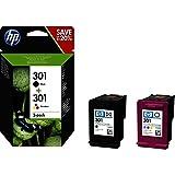 HP N9J72AE 301 Original Ink Cartridges, Black and Tri-Colour, Pack of 2