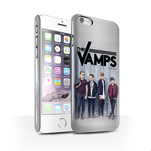 Offiziell The Vamps Hülle / Glanz Snap-On Case für Apple iPhone 6 / Pack 6pcs Muster / The Vamps Fotoshoot Kollektion Gebürstetes