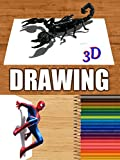 Time Lapse 3D Drawings of Animals and Movie Characters [OV]