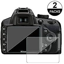awinner cristal para cámara, para Nikon D3200D3400D3300D3100Protector de pantalla anti-arañazos templado Glas (2-Pack)