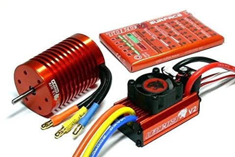LEOPARD SKYRC 3000KV 13T Brushless Motor & 60A ESC Speed Controller Combo ME714 with RCECHO Full Version Apps