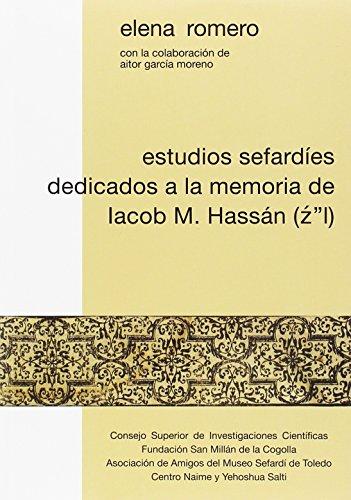 Estudios sefardíes dedicados a la memoria de Iacob M. Hassán (Z L)
