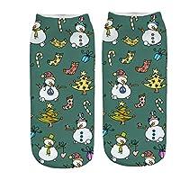 LILICAT Christmas Socks 3D Cartoon Santa Claus Christmas Tree Snowman Elk Pattern Casual Work Cotton Socks Crew Socks Sports Socks