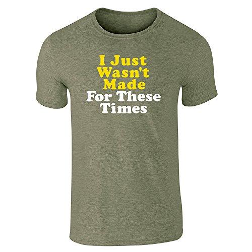 Pop Threads Herren T-Shirt Gr. Large, Militärgrün (Heather Military Green)