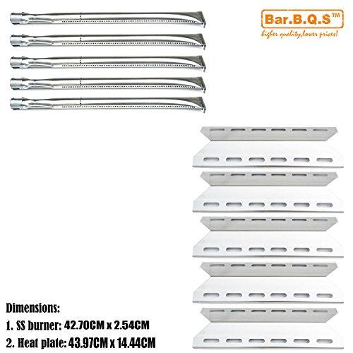 Bar. b.q.s 5Pack Rebuild Kit Heat Teller und Brenner Ersatz für Charmglow 720–0234, Nexgrill 720–0033,720–0234,720–0289Gas Grill Modelle
