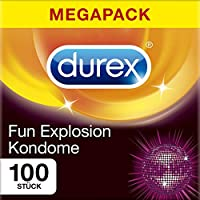 Durex Fun Explosion Kondome – Verschiedene Sorten für aufregende Vielfalt - Verhütung, die Spaß macht – 100er Großpackung (1 x 100 Stück)