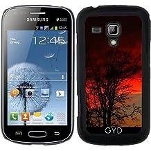 Funda para Samsung Galaxy S Duos S7562 - Puesta Del Sol Roja Y El árbol by loki1982