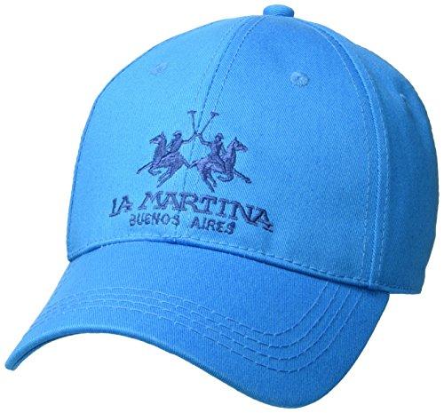 la-martina-unisex-cap-baseball-twill-blau-hawaiian-ocean-07047-one-size