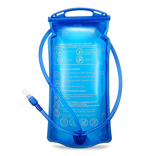 Portable 2 liter water hydration bag authorized FDA