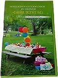 Glückwunschkarte Zum Geburtstag - ...und ein Kunterbuntes Fest - Festtisch in der Natur - Mehrfarbig - mit Briefumschlag