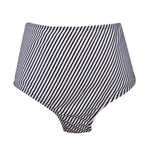 Leey Bikini Set Damen Badeanzug Push up Tankini Set mit Slip Zweiteilige Badeanzug Bademode Strandkleidung Crossover Neckholder Blumen Bikinioberteil mit High Waist Bikinihose - 6
