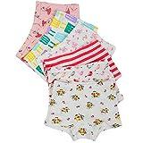 Kidear Kinderserie Baby-Unterwäschen Baumwollene Boyshort Höschen für Kleine Mädchen (Packung mit 6 Stücken) (Stil3, 4-5 Jahre)