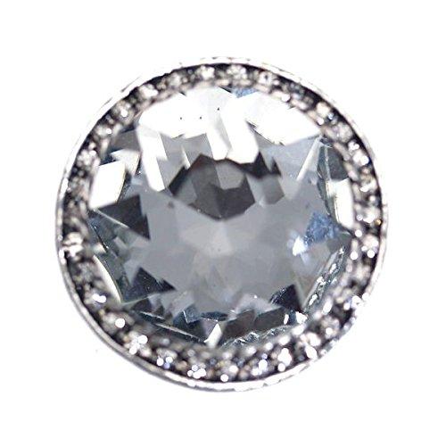 MAURIZIA Argento cristallo sciarpa Clip