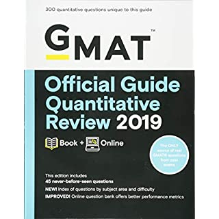 GMAT Official Guide Quantitative Review 2019: Book + Online (Gmat Official Guides)