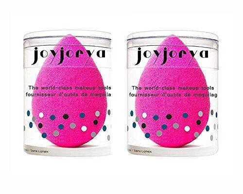 Joyjorya make-up e viso spugna, beauty cosmetico per blender (rosa + rosa)