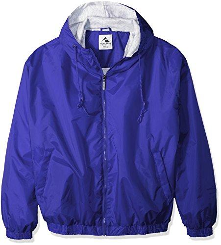 Augusta Sportswear Men'S Hooded Taffeta Jacket/Fleece Lined 4Xl Royal Fleece-lined Hooded Nylon Jacket
