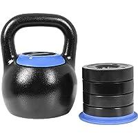 GORILLA SPORTS® Kettlebell verstellbar 8-16/16-24 kg – Adjustable Kugelhantel mit 5in1 Gewichtsvarianten