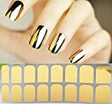 chengyida 16Nagellack Streifen, Nail Art–Gold Farbe