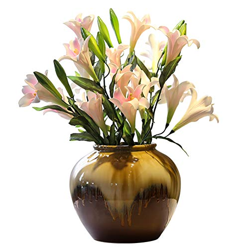 Xue-vase Künstliche Blumen 6 Branch Traditional/Classic Pastoral Style Plants Tabletop Blume + Keramik-Vasen