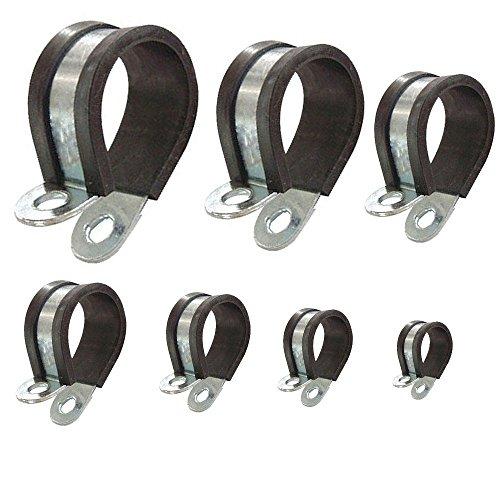 Rohrschellen mit Gummieinlage Auswahl: Ø 40mm / Band 20mm, 2 Stück
