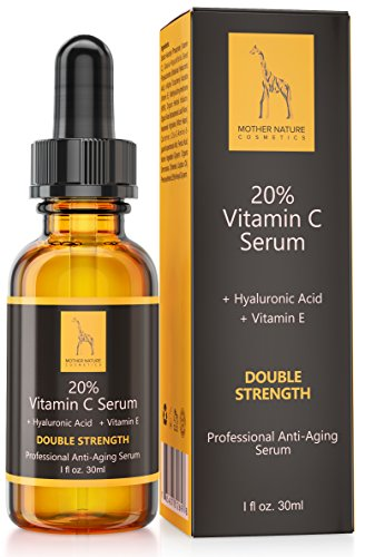 Natürliches Vitamin C Serum - FREI VON Parabenen, Silikonen, Parfümen, PEGs, Hormonen - 30 ml Hochdosiert - Vitamin C Serum inkl. Hyaluronsäure und Vitamin E (Haut Creme Mit Vitamin C)