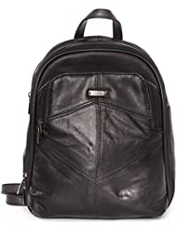 37c0c6050b Ladies Black Sheep Nappa Leather Backpack Handbag with 3 zipped compartments