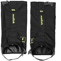 TENGGO Al Aire Libre Escalada Nieve Polainas Legging Zapatos Cubierta Impermeable Senderismo Pantalón Protector-Negro