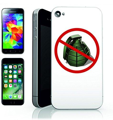 Smartphone Case Granate di rifiutare di Guerra della pace sprengstoff Esercito per Apple Iphone 4/4S, 5/5S, 5C, 6/6S, 7& Samsung Galaxy S4, S5, S6, S6Edge, S7, S7Edge Huawei HTC–Divertimento M