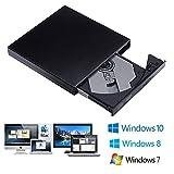 TTRwin - Unidad externa USB 2.0 Slim CD RW DVD ROM DVD Drive CD grabador grabador regrabador...