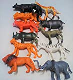 #10: Set of 12 Wild Animals Plastic Toys for Kids (useful learning resources),Size- 8/6 cm