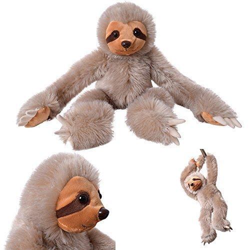 TE-Trend XXL Plüschtier Faultier Sloth Faultierkuscheltier Stofftier 53 cm groß braun sitzend hängend Klettverschluss