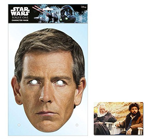 Star Promi Kostüm Wars - Orson Krennic Rogue One: A Star Wars Story Single Karte Partei Gesichtsmasken (Maske) Enthält 6X4 (15X10Cm) starfoto