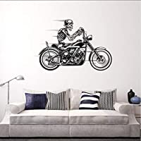 tzxdbh New For Motorcycle Skeleton Biker Skull Car Truck Window Wall Laptop Vinyl Decal Sticker Car Styling 58 * 89cm