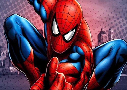 Spiderman Home Coming Herren Spinne Waffel in Ostia für Kuchen personalisierbar-Kit N ° 4cdc- (1Waffel in Ostia Abmessungen Folio A4210× 297mm)