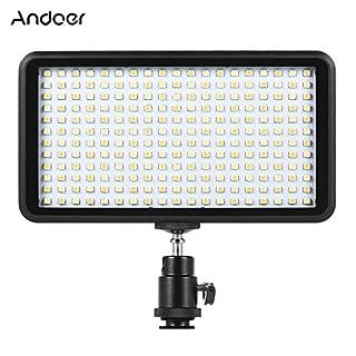 Andoer 228pcs Perlen Ultra dünne 3200K - 6000K dimmbare Beleuchtung Studio Video Foto Pad Panel Lampe LED Licht Beleuchtung für Canon Nikon DSLR-Kamera-DV-Camcorder