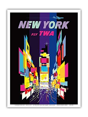 Pacifica Island Art New York-Times Square-Trans World Airlines Fliegen TWA-Vintage Airline Travel Poster von David Klein-Master Kunstdruck 9
