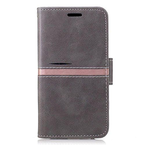 adorehouse Samsung Galaxy Core Prime G360 Custodia, Custodia a Libro in Pelle Cover Flip Case [Slot Porta Carta] [Supporto] Portafoglio Custodia per Samsung Galaxy Core Prime G360 (Grigio)