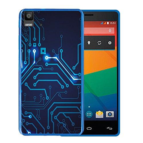 WoowCase Bq Aquaris E5s - E5 4G Hülle, Handyhülle Silikon für [ Bq Aquaris E5s - E5 4G ] R&gang Handytasche Handy Cover Case Schutzhülle Flexible TPU - Blau