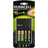 Duracell 45 Minutes Charger With 2 AA And 2 AAA Rechargeable Batteries